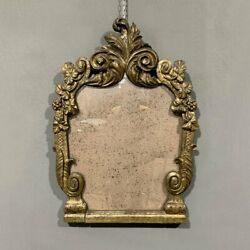Antique 18th Rare Italian Mirror Louis Xv Carved And Mechanized Wood