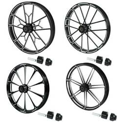 30and039and039 X 3.5and039and039 Front Wheel Rim Wheel Hub Single Disc Fit For Harley Touring 08-21