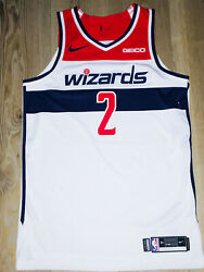 100 Authentic Nike Wizards John Wall Game Issued Jersey 18/19 Season Pro Cut