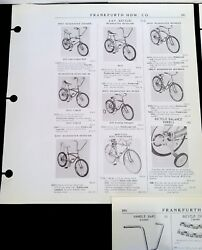 Vintage 1973 Muscle Bike And Accessories Catalog Pages Amf Rare