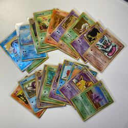 Vintage Rare 1998 Pokemon Japanese Vending Series Lot Glossy Common And Uncommon