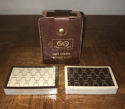 Vintage Fisher Price Pull Toys Retiree Club Unused Playing Cards/leather Case