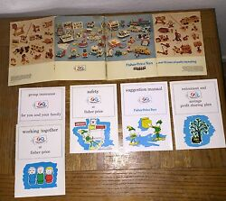 5 Brochures Vintage Fisher Price 1972 Employee Manuals Pull Toys Little People