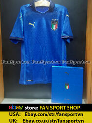 Box Italy 2020-2021 Home Authentic Shirt Jersey Blue Euro Limited Player Bnwt S