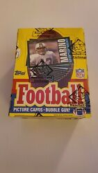 1985 Topps Football Wax Box Bbce Wrapped Authentic Warren Moon Rookie Mint Box
