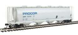 Walthers Mainline Ho 59' Cylindrical Covered Hopper Procor 3 Car Set