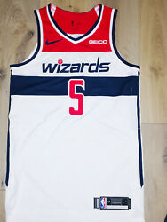 100 Authentic Nike Wizards Markieff Morris Game Worn/issued Jersey Pro Cut