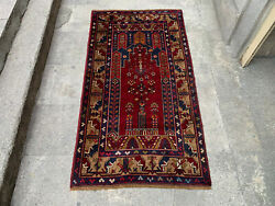 3and0396and039and039 X 6and0396and039and039 Vintage Natural Rug Village Rug Handmade Carpet.skuy1240