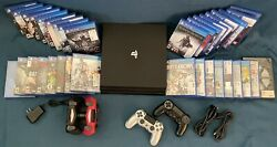 Ps4 Pro 1tb Bundle W/ 35 Games + 4 Controllers Sony Playstation 4 - Free Ship
