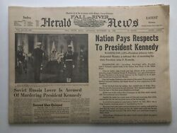 Nation Pays Respects To Jfk - Herald News - Nov 23, 1963 Complete Ads/comics 20p