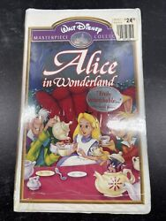Disney's Masterpiece Collection Alice In Wonderland Vhs, 1999, Clam Shell Case