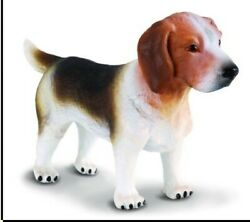 BEAGLE DOG FIGURINE BLACK BROWN WHITE PET COLLECTA TOY ANIMAL SMALL CANINE NEW