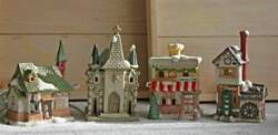 Christmas Village Houses - Church, Hardware Store, Gristmill, Pub