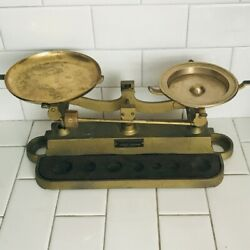 Antique Cast Iron Scale Henry Troemner Display Kitchen Heavy Duty