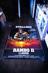 Rambo 2 4x6 Ft Bus Shelter D/s Movie Poster Original 1985