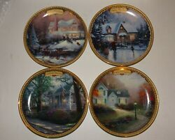 Simpler Times Celebration Collection Calendar Plate By Thomas Kinkade Set Of 4