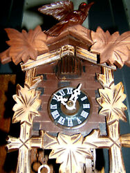 Antique Black Forest Cuckoo/ Clockl 2 Weight Clock By Falstaff Germany