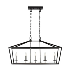 Chandelier 5-light Dimmable Adjustable Hanging Length Mounting Hardware Included