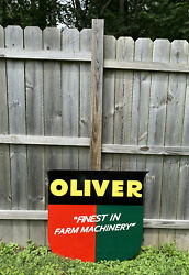 Huge Oliver Metal Sign Tractor Farm Machinery Gas Oil Harvest Truck Equipment
