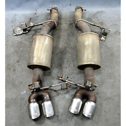 2006-2010 Bmw E60 ///m5 Corsa Performance Axle Back Exhaust Mufflers W Tips Used