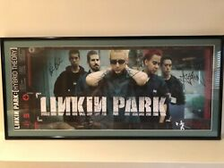Linkin Park Autographed Framed Hybrid Theory Poster Five Sigs Inc. Chester