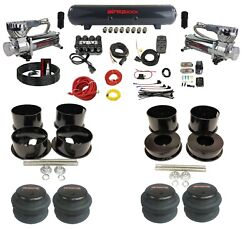 Complete Air Ride Suspension Kit 3/8 Evolve Manifold Bags For 1973-77 Gm B-body