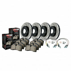 Stoptech For Audi A4 Quattro 2009-2012 Axle Pack Front And Rear Rotors And Pads Pck