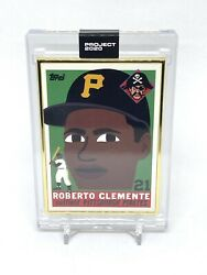Topps Project 2020 Roberto Clemente Keith Shore 1955 Rookie 164 Gold Frame 1/1