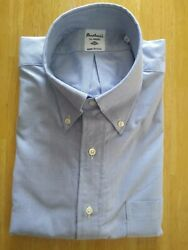Nwot Southwick For Ships Blue Oxford Cloth Button Down 16-34 Slim