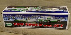 2010 Hess Truck And Jet - Real Lights - Multiple Sounds Led Runway Launch Ramp Nib