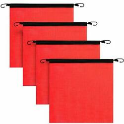 4 Pieces 18 X 18 Inch Hook Safety Warning Flag Mesh Safety Flag Warning Flag ...