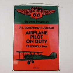Porcelain On Steel Sign Ande Rooney Aviation Products Phillips 66