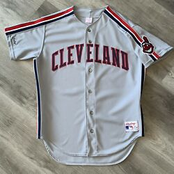 Authentic Cleveland Indians Jersey 48 Rawlings Vintage 90s Rare