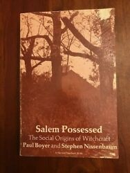 Salem Possessed Social Origins Of Witchcraft, Massachusetts Witch Trials Occult