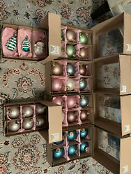 Vintage Christmas Ornaments Made In Germany And Poland Matte Color Assorted Lot
