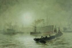 George Wolfe Uk1834-1890 Oil Painting Antique