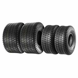 Set Of 4 Lawn Mower Turf Tires 15x6-6 Front And 18x9.5-8 Rear Tractor Riding 4p...