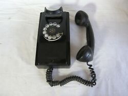 Vintage 1940-50's Western Electric Bell Rotary Wall Phone 354 Black Telephone