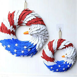 Eagle Shape Independence Day Hanging Wreath Garland For Christmas Party Weddif4