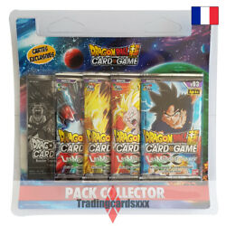 Dragon Ball Super Card Game - Pack Collector 4 Boosters Les Mondes Croisandeacutes