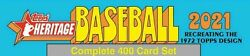 2021 Topps Heritage Complete 400 Card Set Trout Acuna Tatis ⚾️ Flat Shipping ⚾️