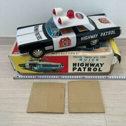 Ichiko Highway Patrol Friction Tin Toy Car With Box Old Items