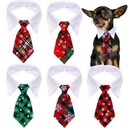 30pcs Small Dog Christmas Neckties Bowtie Collar X' Mas Pet Grooming Products