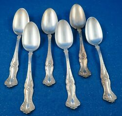 1847 Rogers Brothers Grape Xs Quintuple Plate Six Soup Spoons - Estate
