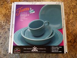 Fiesta 5 Pc Place Setting Dinnerware In Turquoise New In Box Nos
