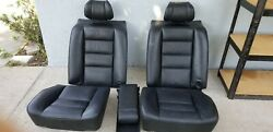 91 Mercedes Benz W126 Coupe 560sec Black Seats Front And Back Oem Leather Nice