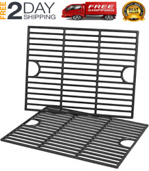 New 2 Pack Cast Iron Grill Grates For Nexgrill 4-5 Burner Grills, 17 X 13 1/4 In