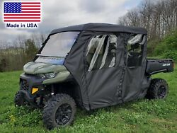 Can Am Defender Max Full Enclosure - Hard Windshield Roof Doors And Rear Window