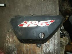 Suzuki Ts 125 1971 2 Cycle Oil Tank Cover Left Side Frame Cover Body Panel
