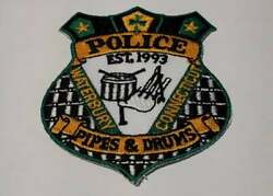 Waterbury Cap Size Pipes And Drums Connecticut Ct Police Patch Vintage